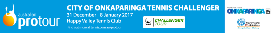 Coverage of 2016 City of Onkaparinga ATP Challenger Tennis Tournament — Video, Stories and Photos